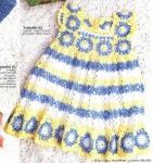 vestido amarelo azul