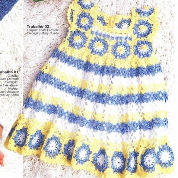 a26e746af2 Vestidos Infantis – Página 2 – Gráficos e Receitas