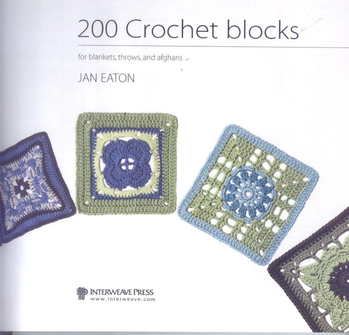 200 Crocheted Blocks for blankets, throws & Afghans 003