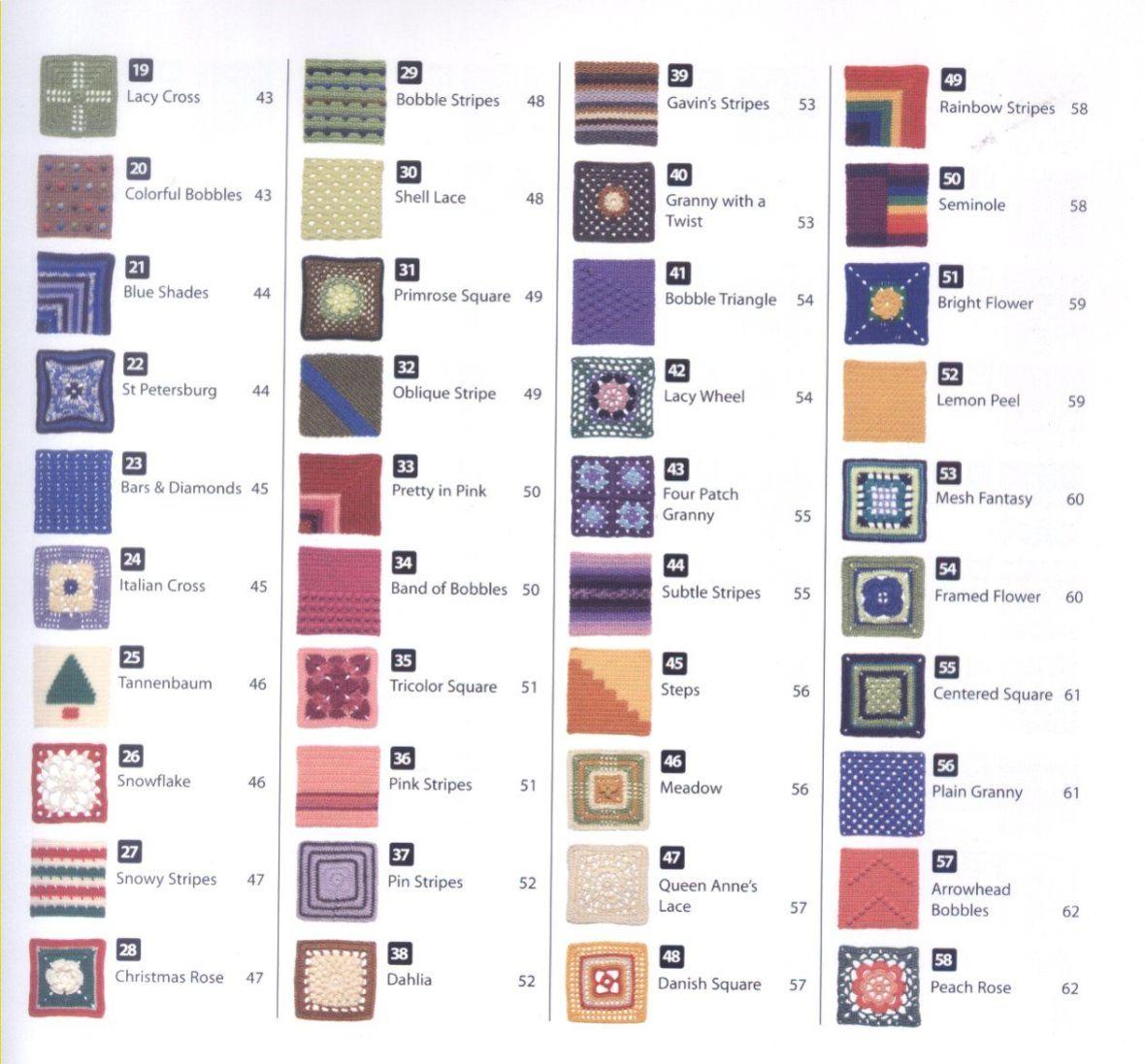 200 Crocheted Blocks for blankets, throws & Afghans 005