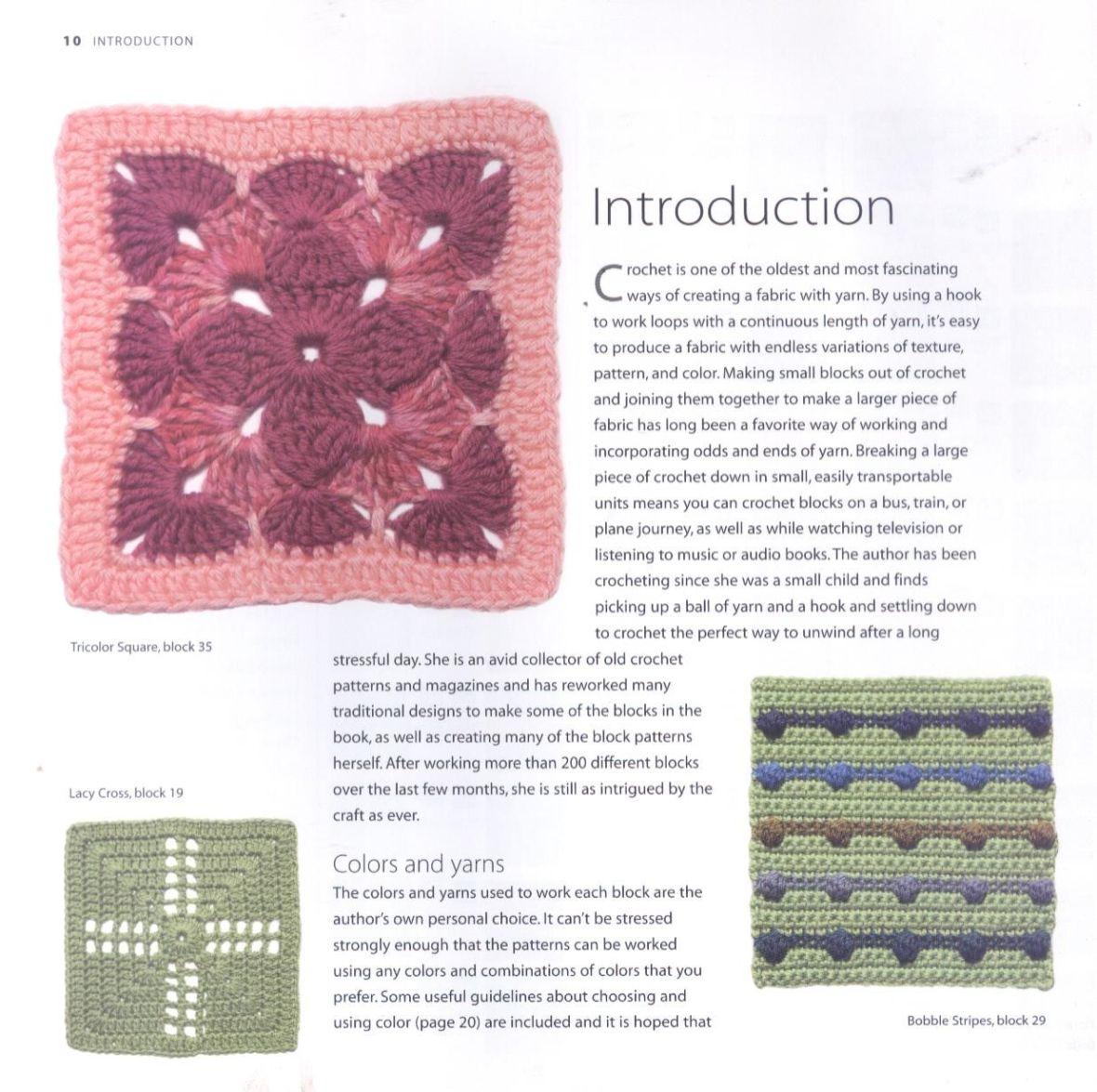200 Crocheted Blocks for blankets, throws & Afghans 010
