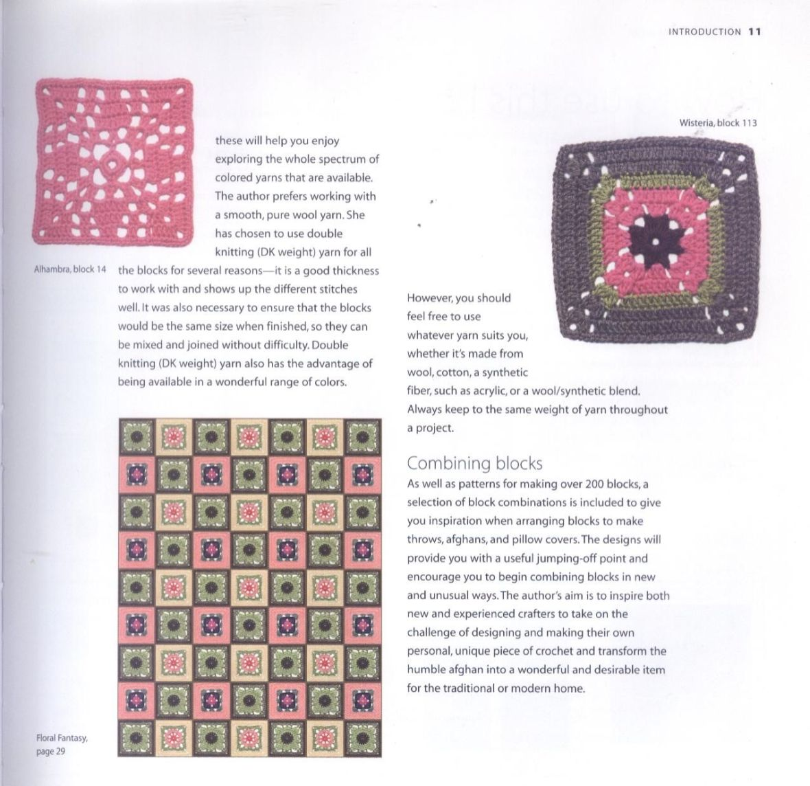 200 Crocheted Blocks for blankets, throws & Afghans 011