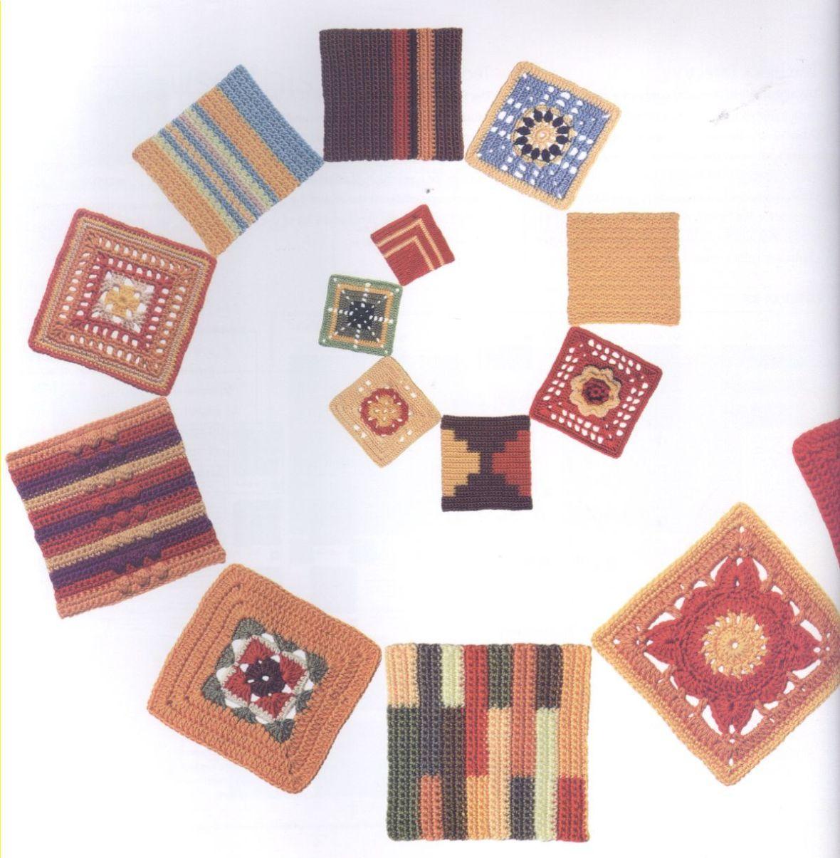 200 Crocheted Blocks for blankets, throws & Afghans 014