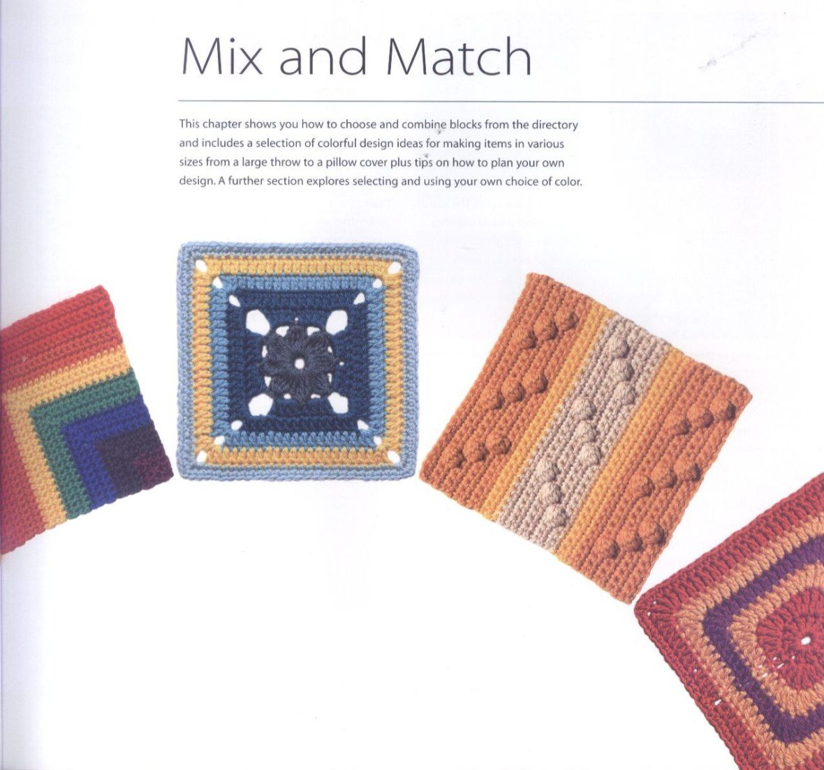 200 Crocheted Blocks for blankets, throws & Afghans 015