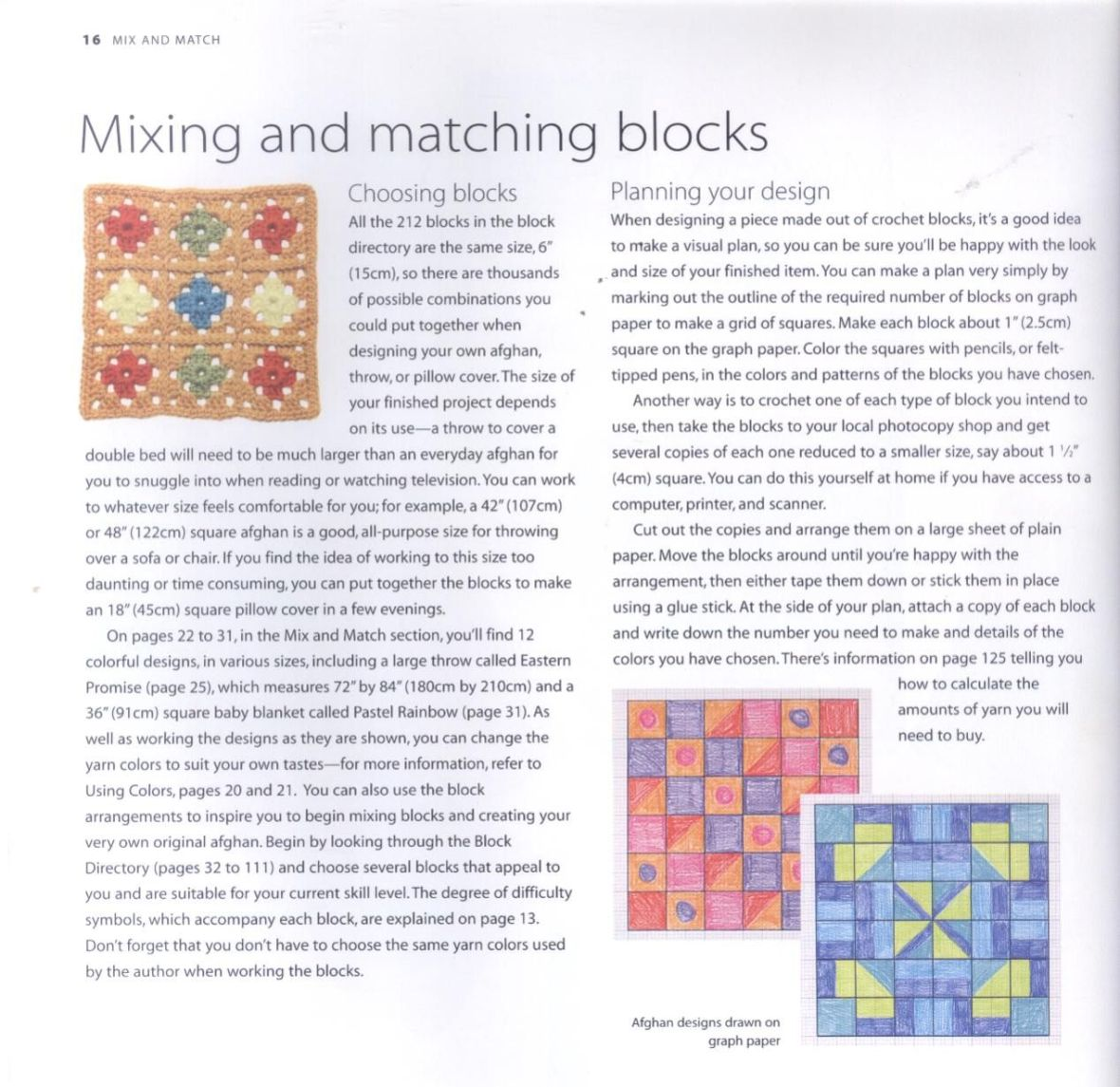 200 Crocheted Blocks for blankets, throws & Afghans 016