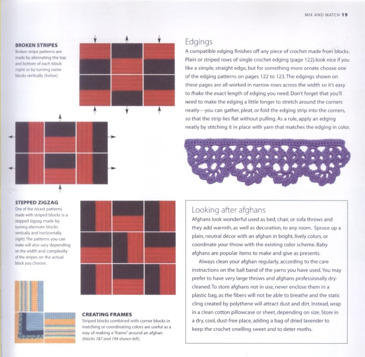 200 Crocheted Blocks for blankets, throws & Afghans 019