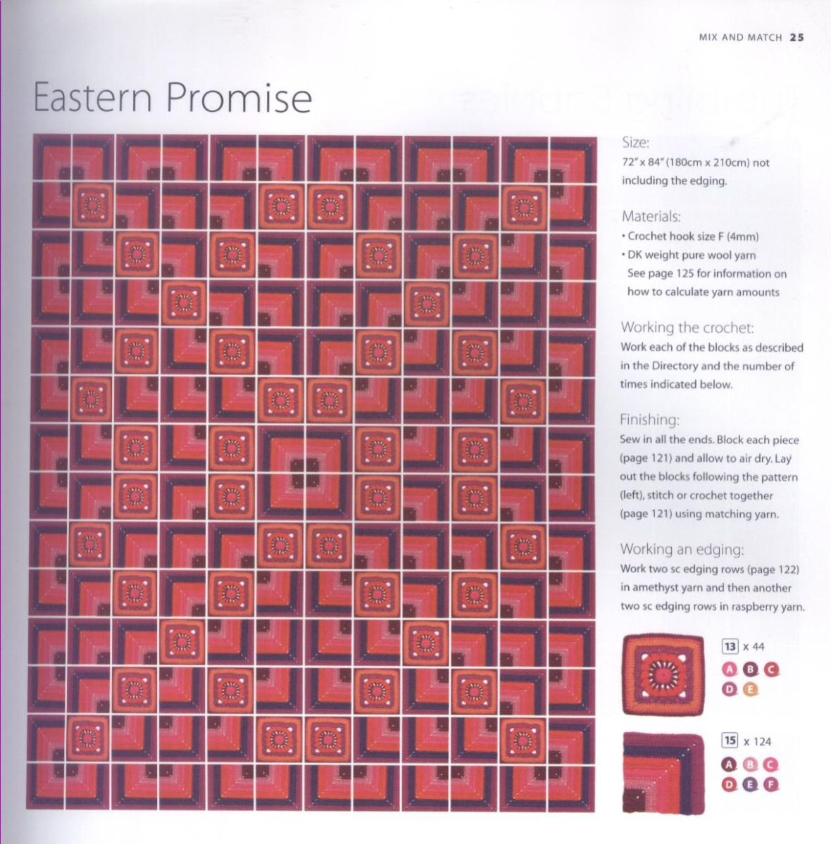 200 Crocheted Blocks for blankets, throws & Afghans 025