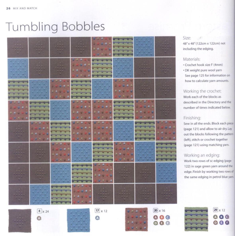 200 Crocheted Blocks for blankets, throws & Afghans 026