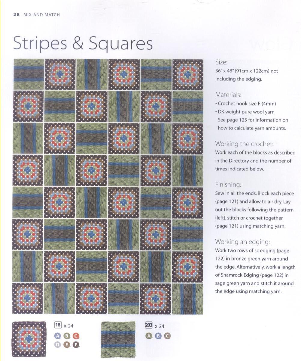 200 Crocheted Blocks for blankets, throws & Afghans 028