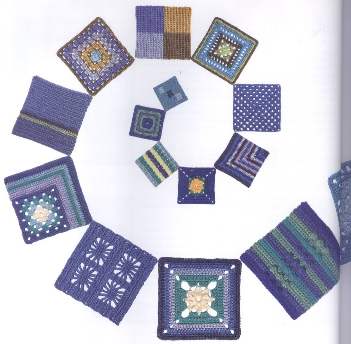 200 Crocheted Blocks for blankets, throws & Afghans 032