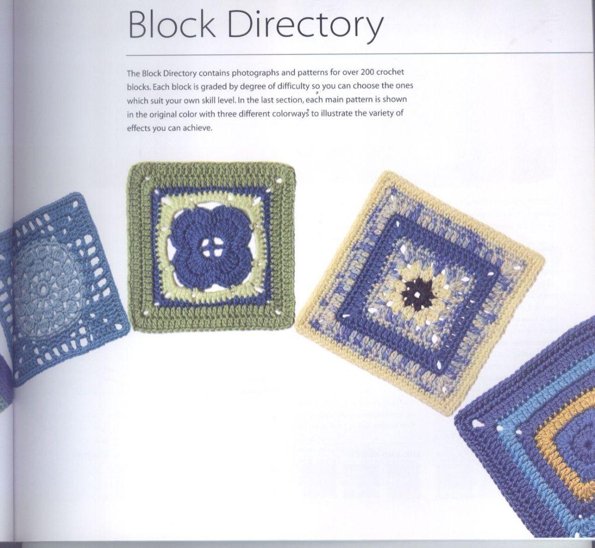 200 Crocheted Blocks for blankets, throws & Afghans 033