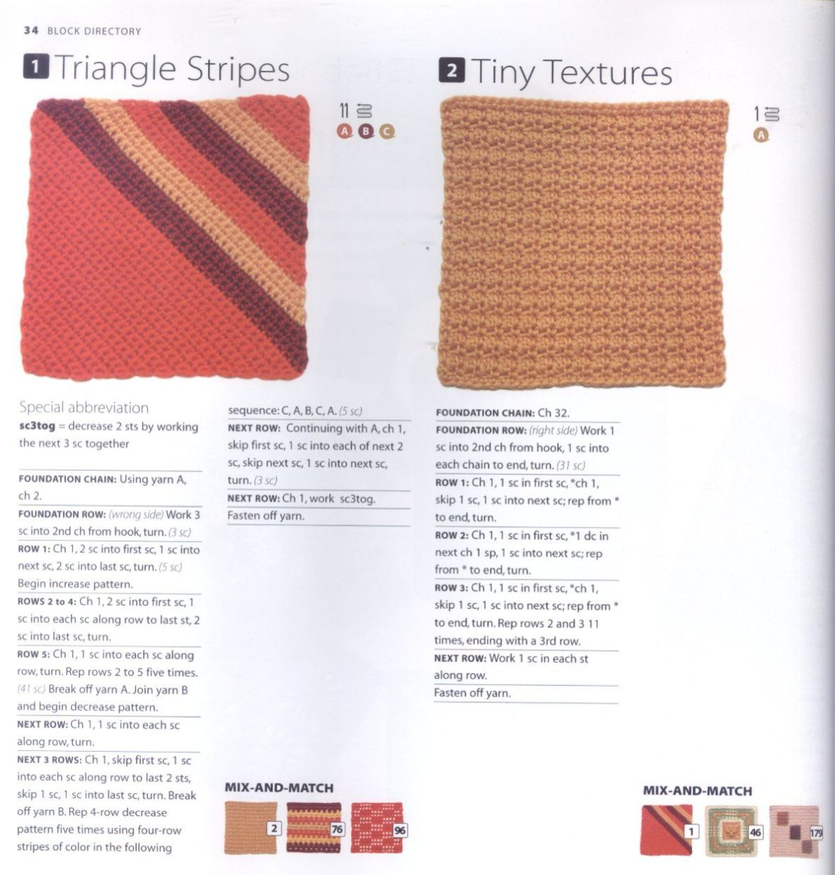 200 Crocheted Blocks for blankets, throws & Afghans 034
