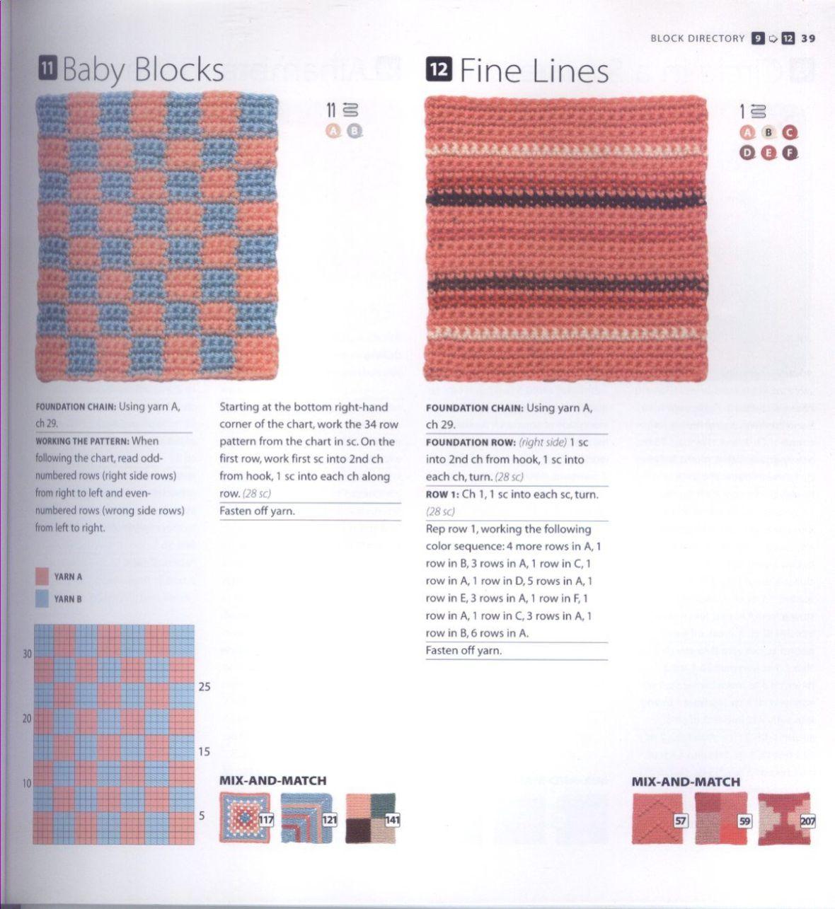 200 Crocheted Blocks for blankets, throws & Afghans 039