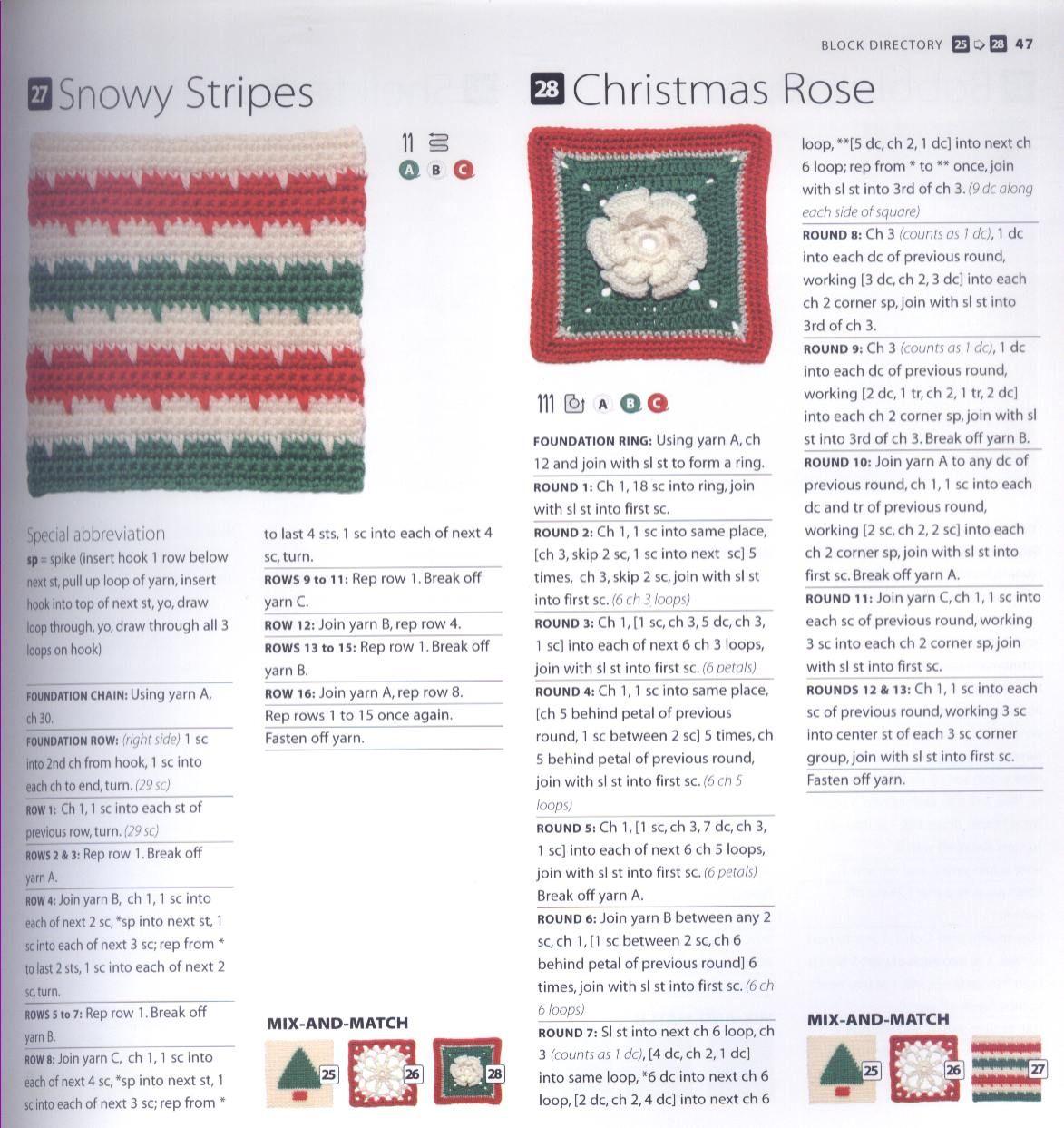 200 Crocheted Blocks for blankets, throws & Afghans 047