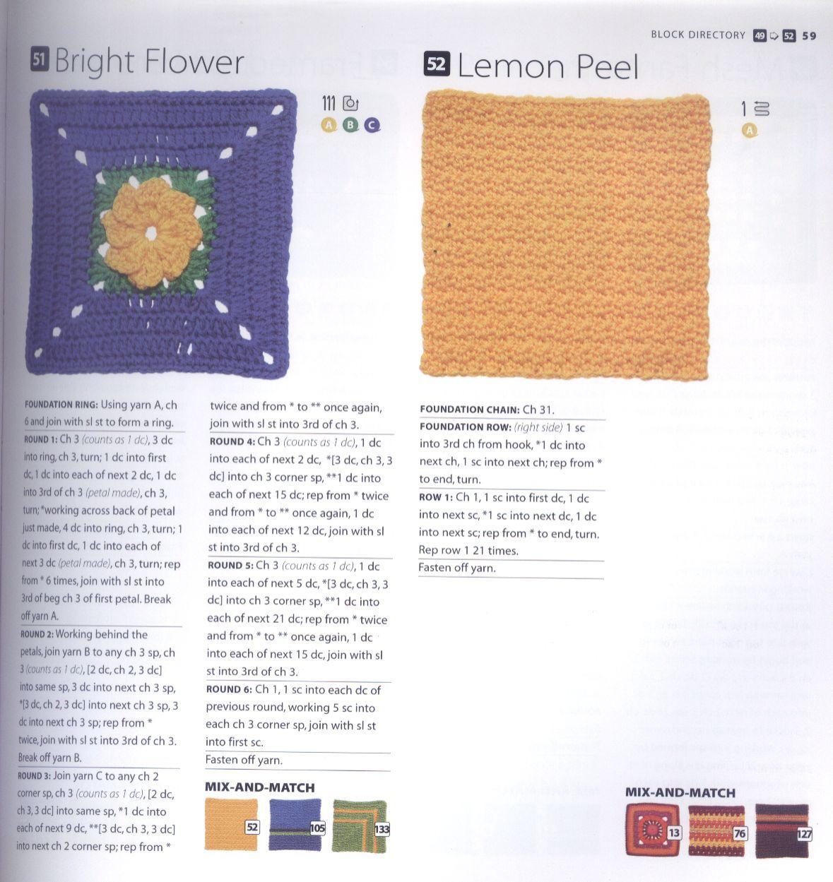 200 Crocheted Blocks for blankets, throws & Afghans 059