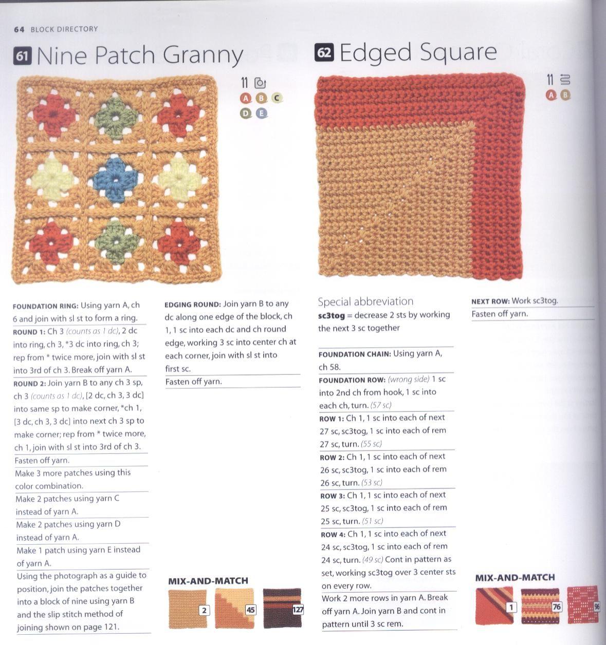 200 Crocheted Blocks for blankets, throws & Afghans 064