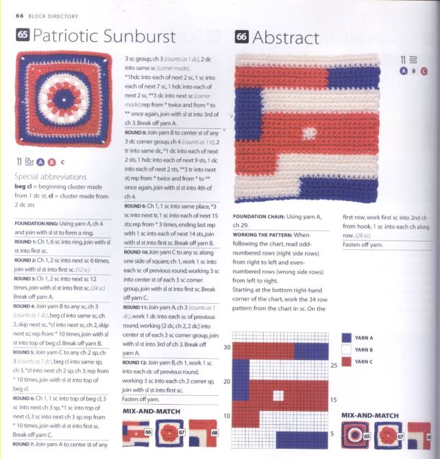 200 Crocheted Blocks for blankets, throws & Afghans 066