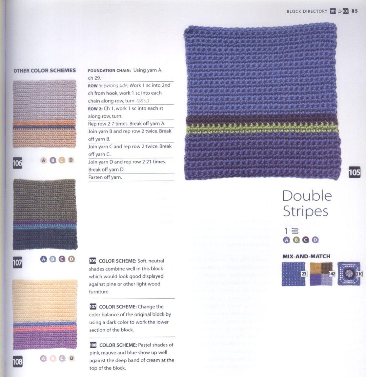 200 Crocheted Blocks for blankets, throws & Afghans 085