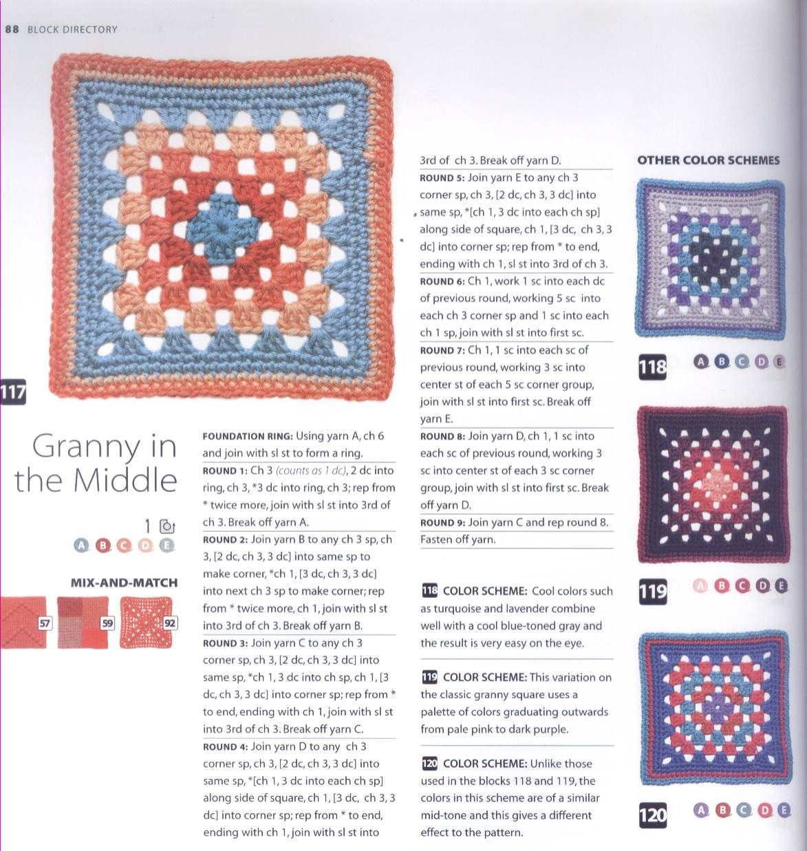 200 Crocheted Blocks for blankets, throws & Afghans 088