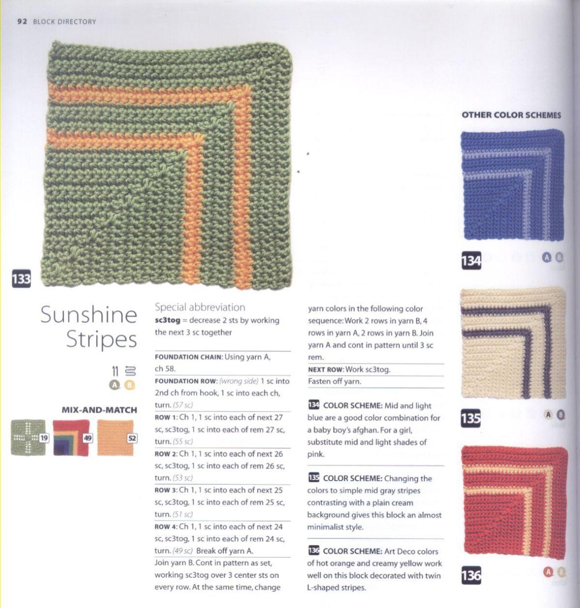 200 Crocheted Blocks for blankets, throws & Afghans 092