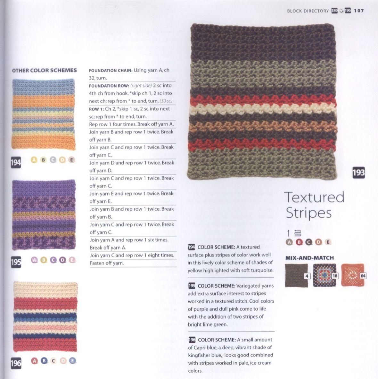 200 Crocheted Blocks for blankets, throws & Afghans 107