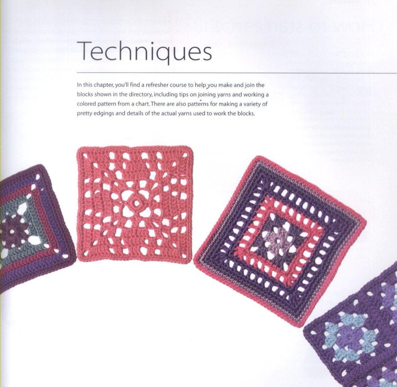 200 Crocheted Blocks for blankets, throws & Afghans 112