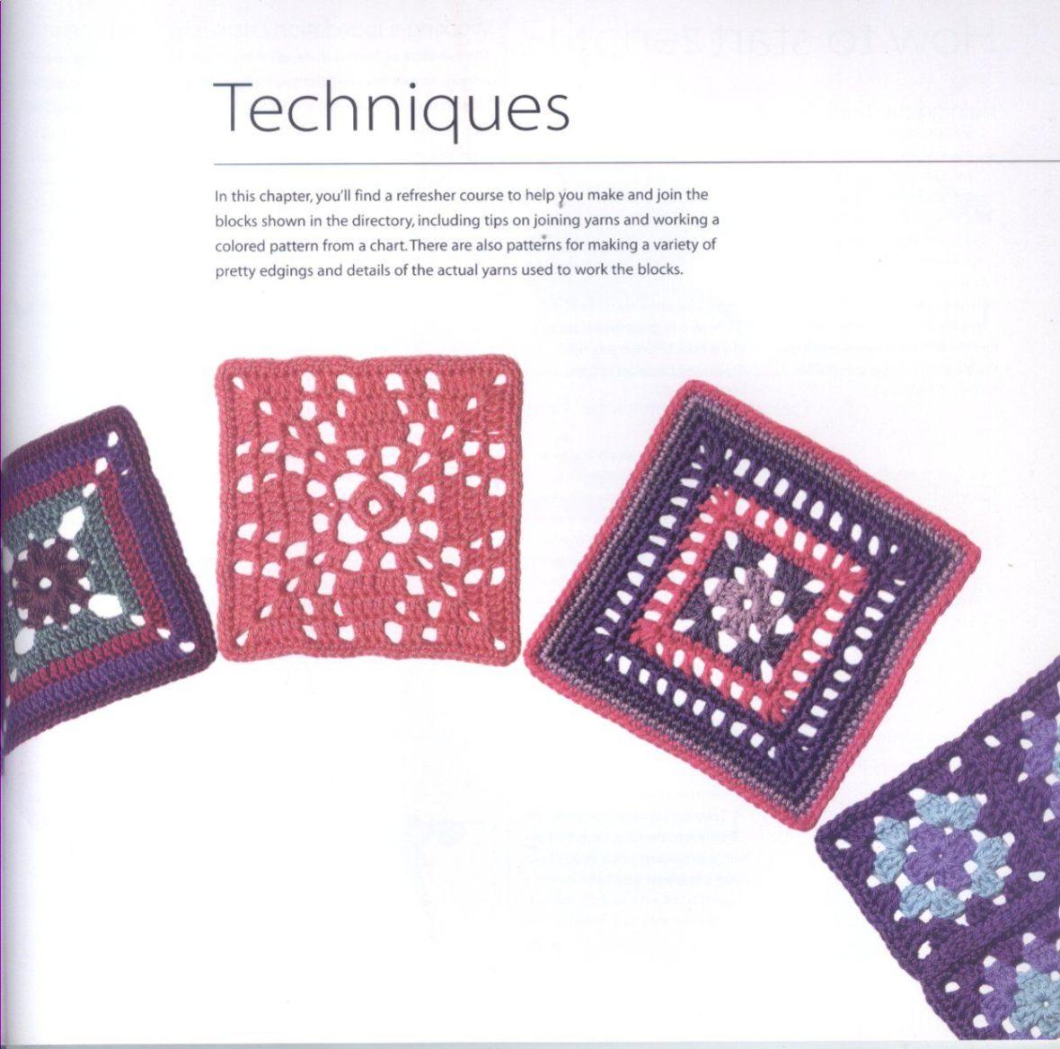 200 Crocheted Blocks for blankets, throws & Afghans 113