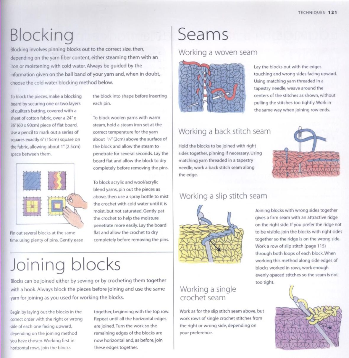 200 Crocheted Blocks for blankets, throws & Afghans 121