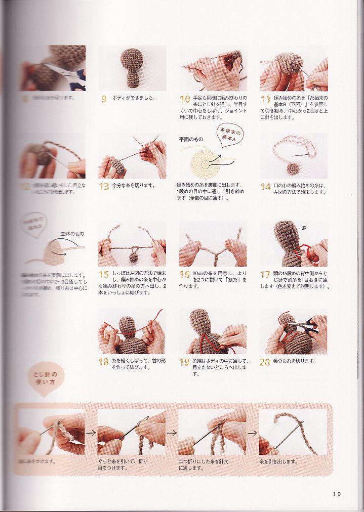 Amigurumi Rana : Revista Amigurumi Graficos e Receitas