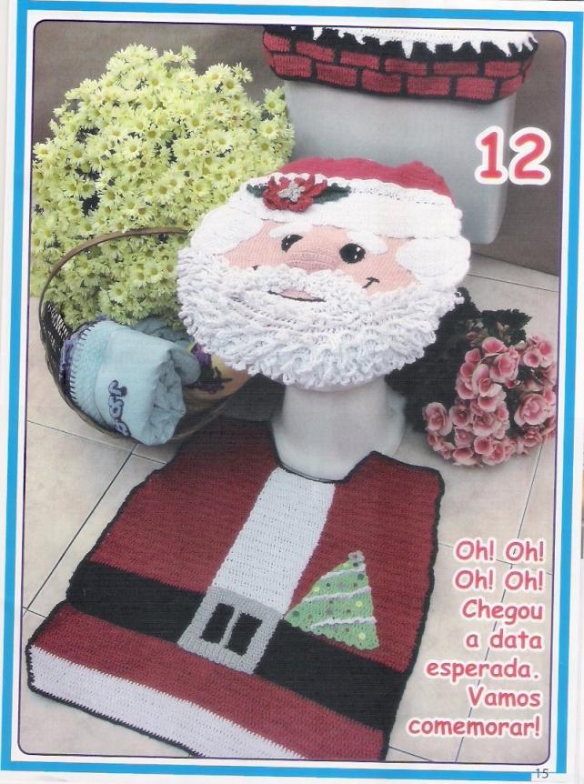 Jg de banheiro Papai Noel
