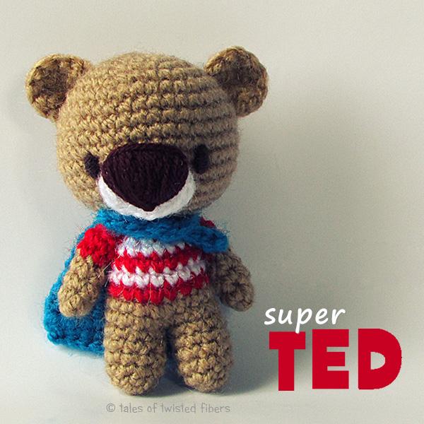 Super TED - free amigurumi pattern by Tales of Twisted Fibers