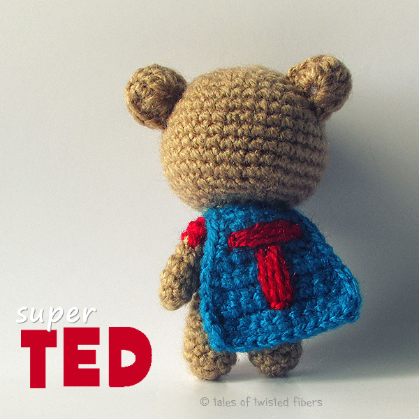 Super TED - free amigurumi pattern by Tales of Twisted Fibers